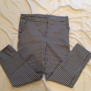 Gingham dress pants
